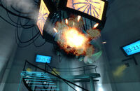 Glados rocket explode