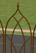 Brown Spin fence
