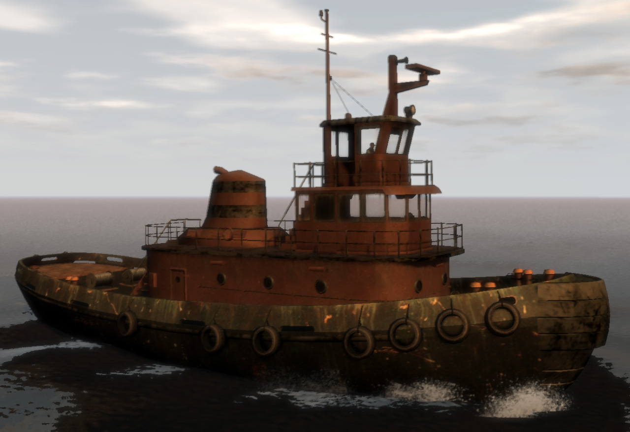 The tug boat in gta iv