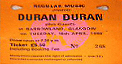 Glasgow ticket duran duran