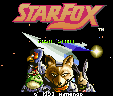 Star Fox (1993) title screen