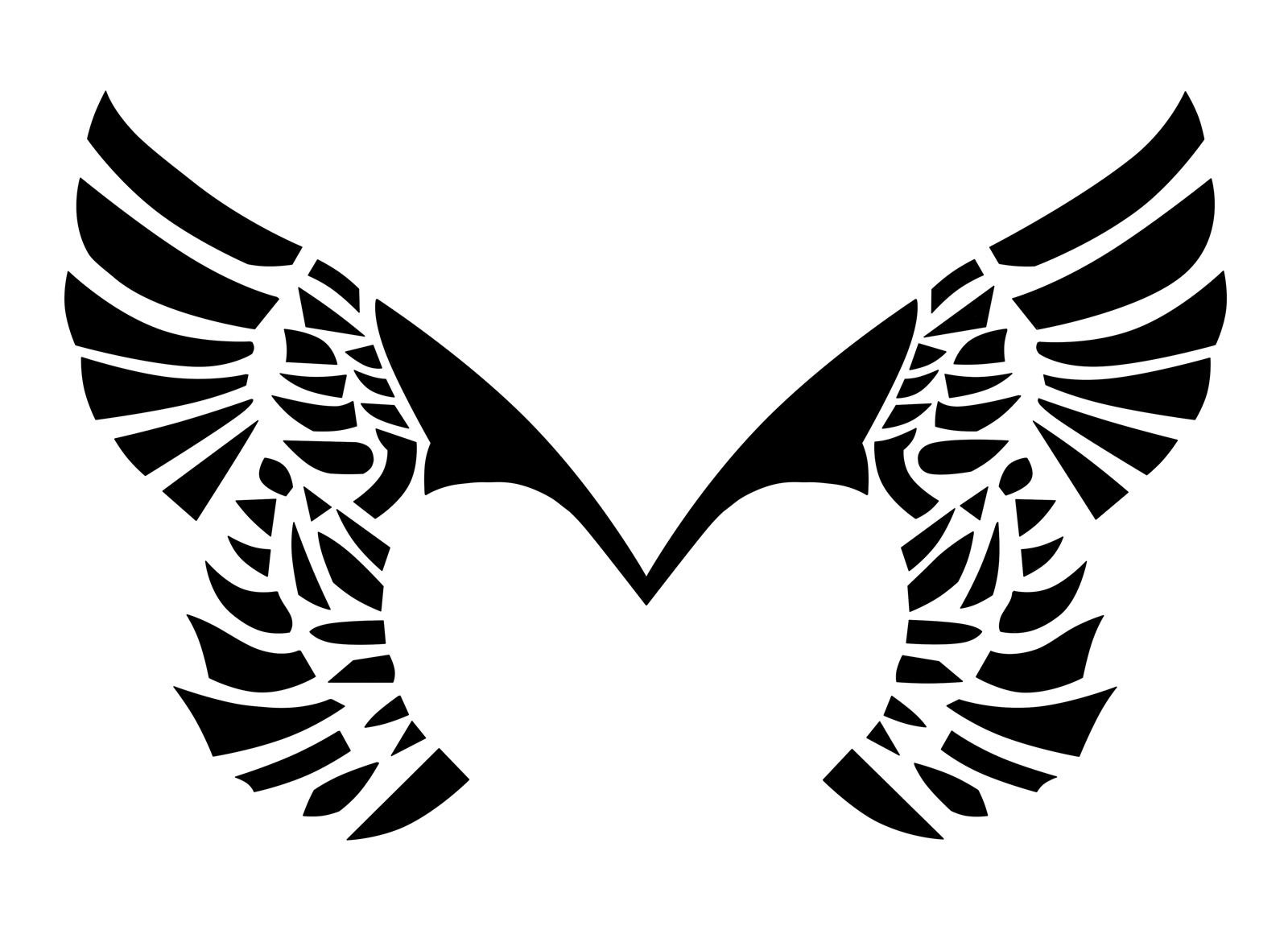 Placebo Wings Tattoo by