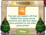 Fuel holiday tree