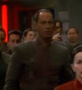 Bajoran officer on the promenade 2374