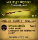 Sea Dog's Bayonet