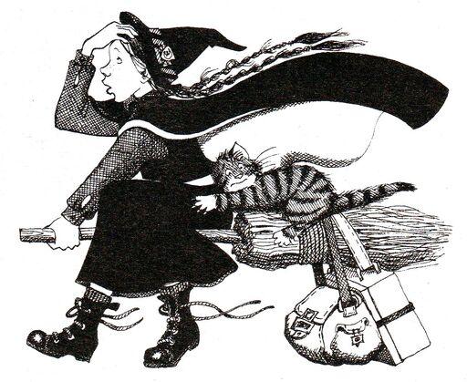 Авторские рисунки Джилл Мерфи. - Страница 4 512px-Worst_witch_book5001
