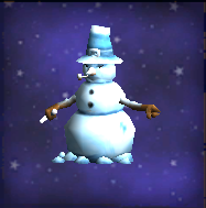 Grumpy Snowman