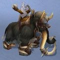 Black War Mammoth, Snow Background, NE Female Rider.png