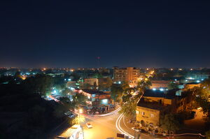 The capital of Niger, Niamey by night