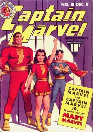 Cover for Captain Marvel Adventures #18
