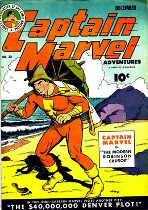 Cover for Captain Marvel Adventures #30