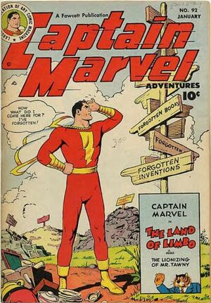 Cover for Captain Marvel Adventures #92