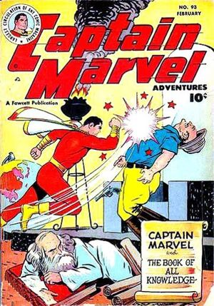 Cover for Captain Marvel Adventures #93