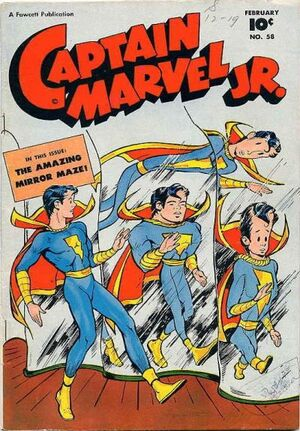 Cover for Captain Marvel, Jr. #58
