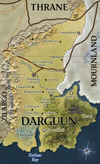 D&amp;D - 4th Edition - Eberron Map Darguun