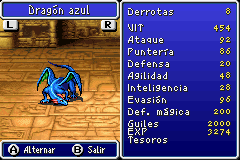 Estadisticas Dragon Azul