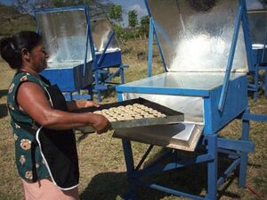 Solar Women of Totogalpa baking photo 4-24-10