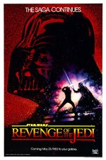 Revenge of the jedi poster