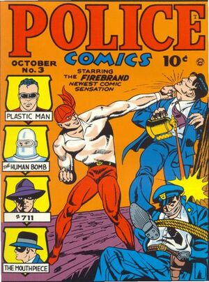 Cover for Police Comics #3