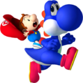 Baby Mario on Yoshi NSMBDIY