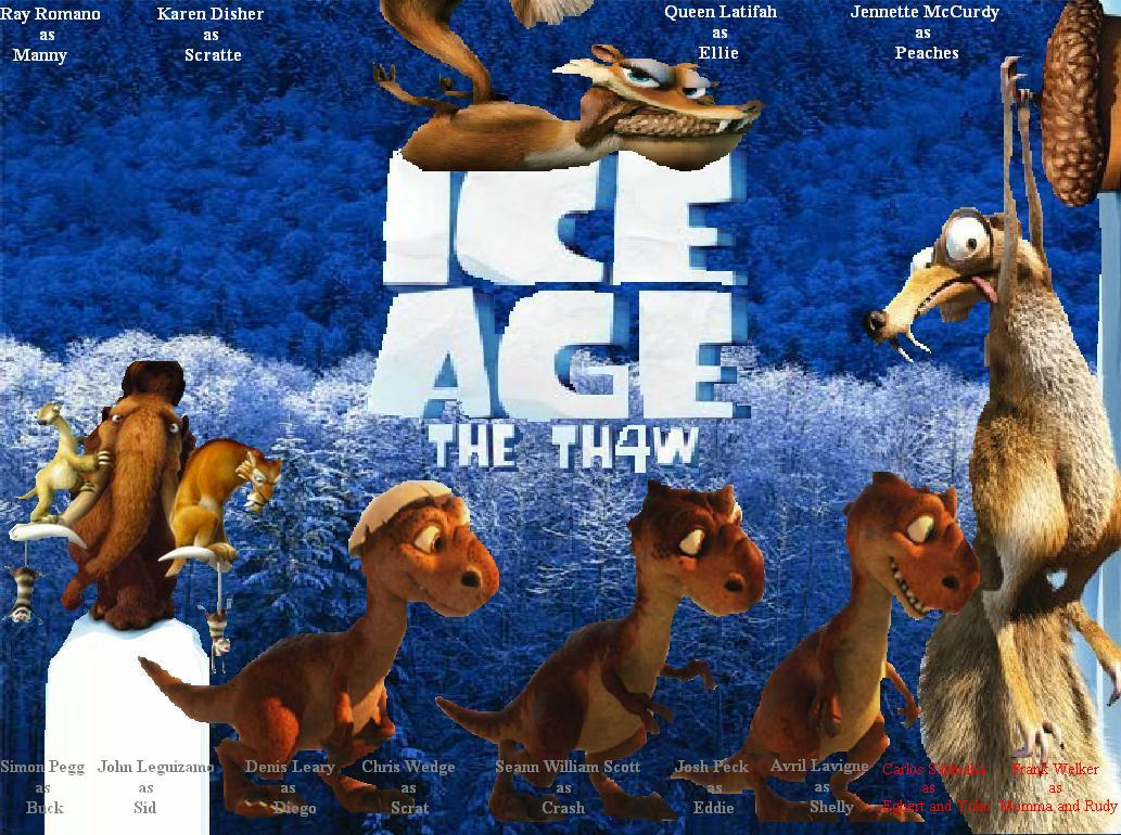 Fan:Ice Age 4: The Th4... Ice Age 5 The Revenge Of Red Horn Momma Dino
