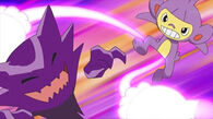 EP592 Ambipom vs Haunter