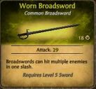 Worn Broadsword