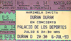 Mexico duran ticket 1993 6 july