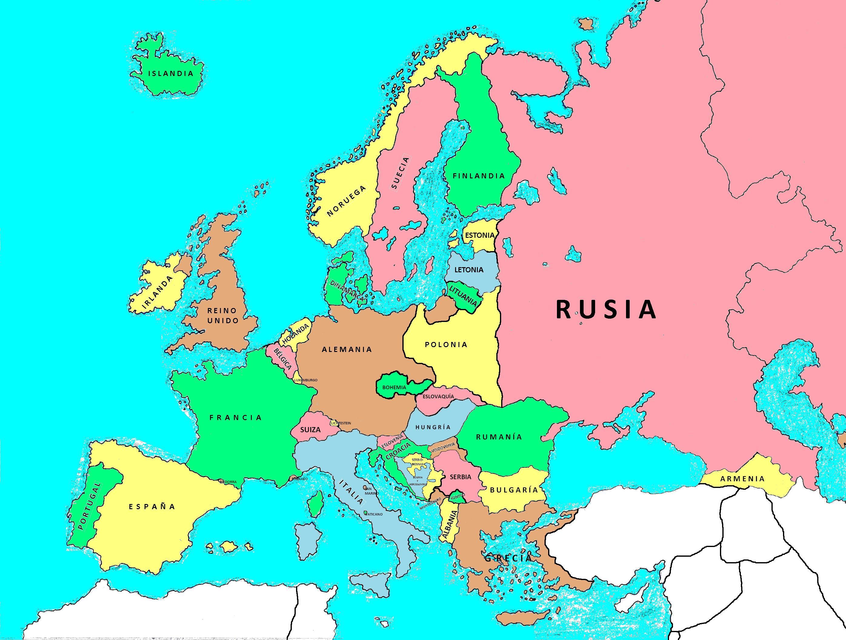 Pizarra De Colores Mapa Interactivo Europa