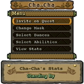 ChaCha-Menu