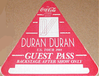 Back stage pass 1984