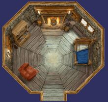 Hagrid&#39;s hut (interior)
