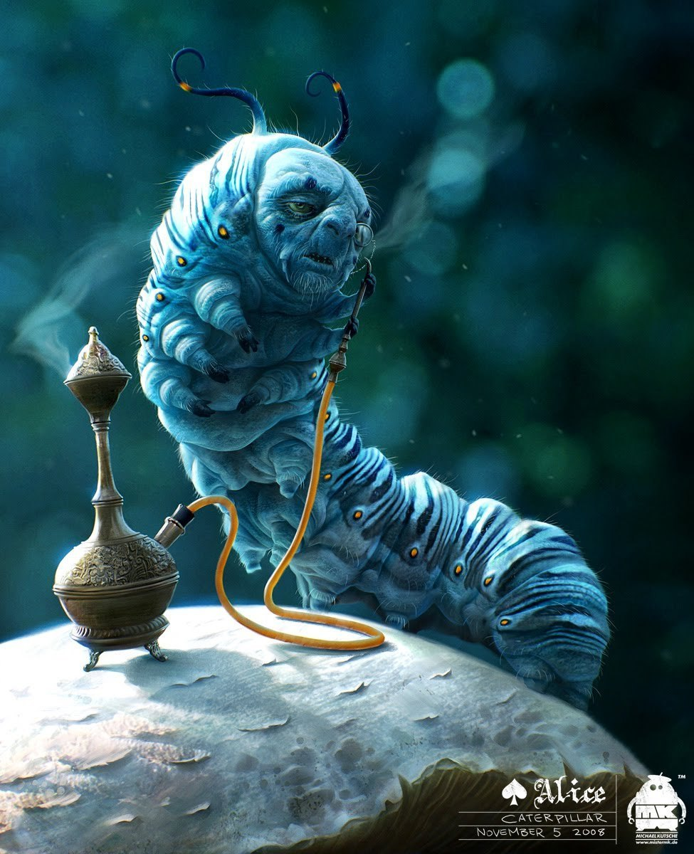The-Caterpillar-Character-Art-by-Alice-In-Wonderland-Character ...