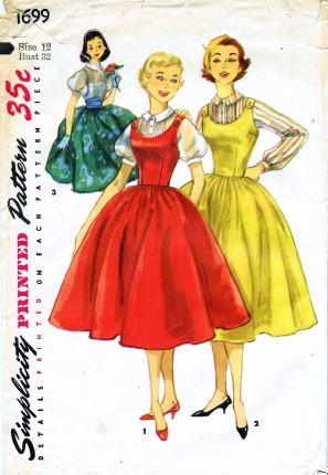 Simplicity 1699 (c. 1956)