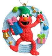 Elmo holiday circle