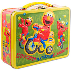 Elmo tricycle tin lunchbox