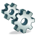 Icon widget cogs wheels