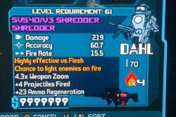 Shredder Shredder SMG incendiary regen