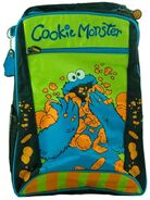 Cookie monster eating cookies backpack