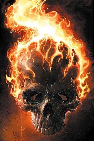 FileFlaming Skulljpg Featured onPosseGhost Riders of Vengeance