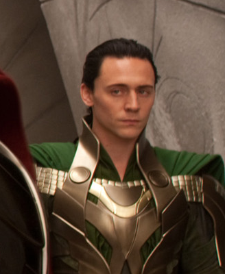"Tom Hiddleston as Loki from ""The Avengers"""