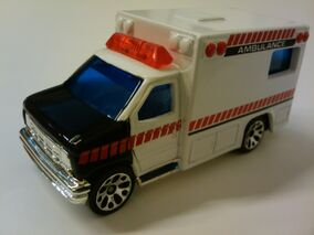 Ambulance white and black