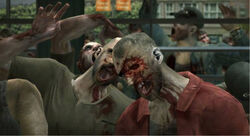 Zombies outside mall