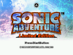 Sonic Adventure Limited Edition Title Screen