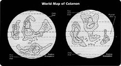 Celanon world map