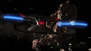 USS Enterprise (NCC-1701-D) enters asteroid field