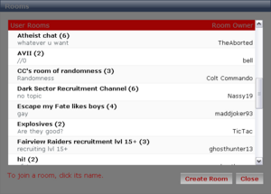 &quot;User Rooms&quot;