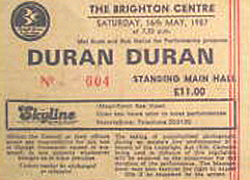 Brighton duran duran ticket