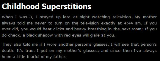 ChildhoodSuperstitions