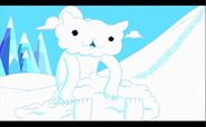 S1e3 snow golem kitten head